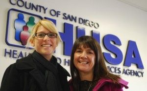 Tori Parker, left, and Megan Kettman are HHSA Public Health Nurses working with expectant and new mothers in East County.Source: San Diego County News Center