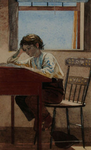 Homework by Winslow Homer