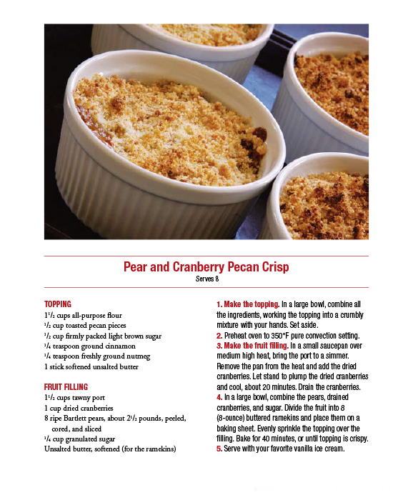 Pear and Cranberry Pecan Crisp